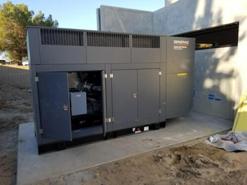 250KW backup Generator Installation, South West Gas Company Victorville CA
